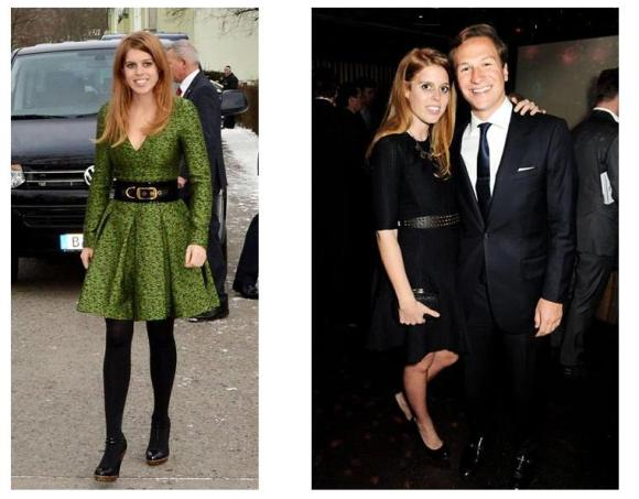 Princess Beatrice, Dave Clark  (Photos courtesy of HELLO!)