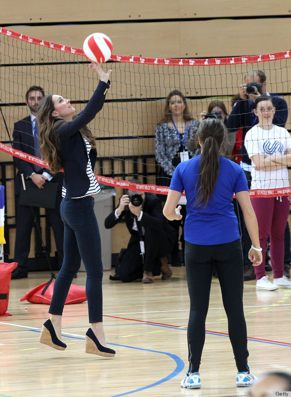 The Duchess Of Cambridge Attends A Sportaid Athlete Workshop