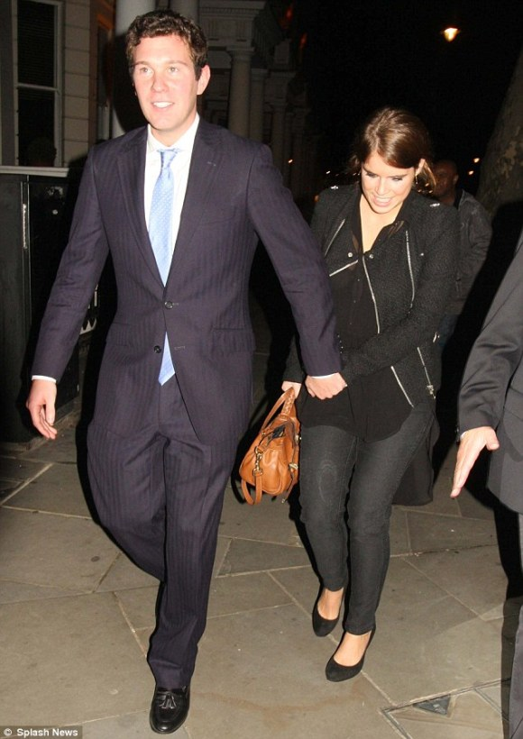 Princess Eugenie and Jack Brooksbank in 2012