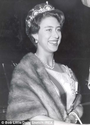 Princess Margaret wearing the tiara to state dinner