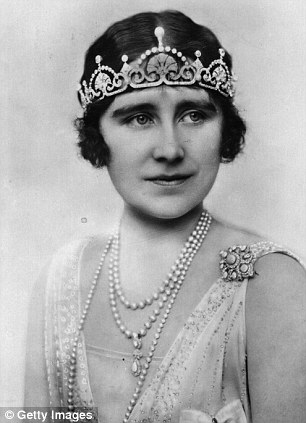 The Queen Mother wearing the tiara in 1930