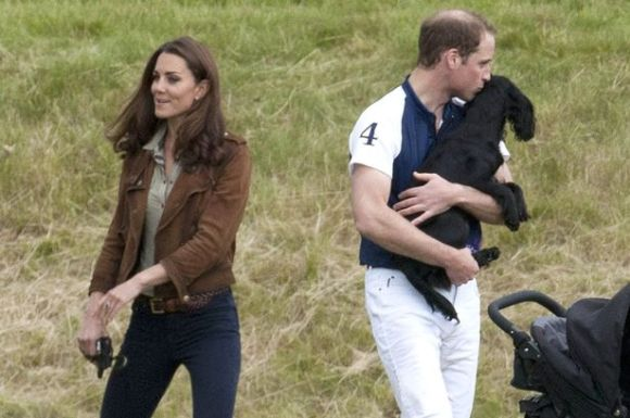 Prince William and Kate Middleton with Lupo-1562119