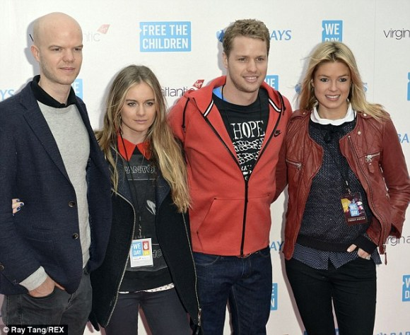 Cressida with her step-sister Isabella Calthorpe and her husband Sam Branson