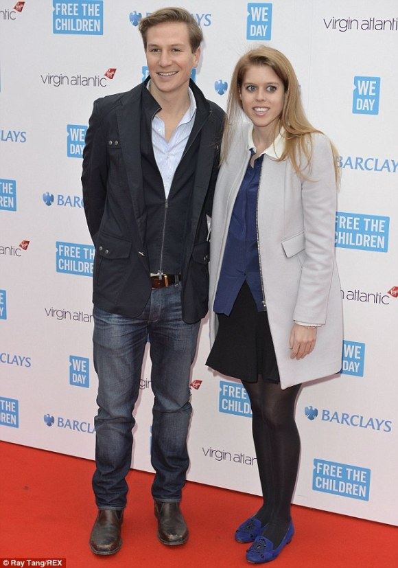 Princess Beatrice and Dave Clark at We Day event