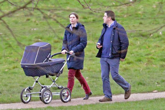 Prince George with his new nanny (Photo Courtesy of Daily Star Sunday)