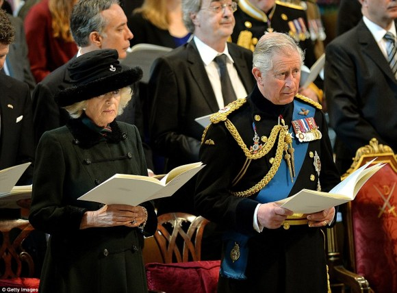 Prince Charles and Duchess of Cornwall at St. Paul's, Friday, 3/13/15