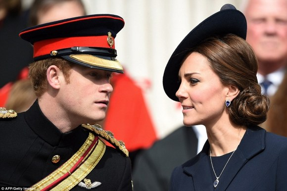 Prince Harry and Duchess of Cambridge, Friday, 3/13/15